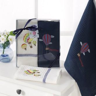 Подарочный набор полотенец для кухни 40*60(2) Karna BALOON хлопковая вафля