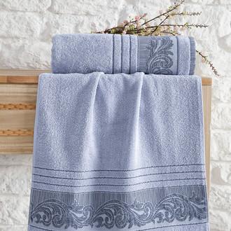 Полотенце для ванной Karna MERVAN хлопковая махра голубой