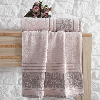 Полотенце для ванной Karna MERVAN хлопковая махра абрикосовый