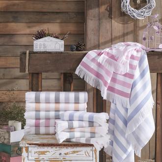 Банное полотенце (пештемаль) Hobby Home Collection STRIPE хлопок (розовый)