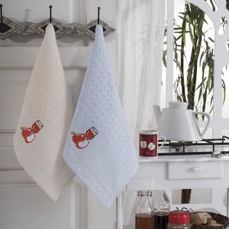 Подарочный набор полотенец для кухни 45*66(2) Karna FESTIVAL хлопковая вафля (V1)