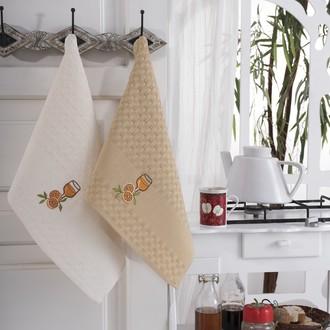 Подарочный набор полотенец для кухни 45*66(2) Karna FESTIVAL хлопковая вафля (V5)