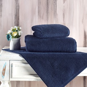 Полотенце для ванной Karna MORA микрокоттон хлопок синий 40х60