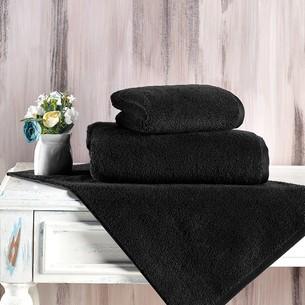 Полотенце для ванной Karna MORA микрокоттон хлопок чёрный 40х60