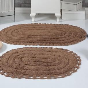 Набор ковриков для ванной Modalin YANA хлопок горчичный