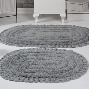 Набор ковриков для ванной Modalin YANA хлопок серый