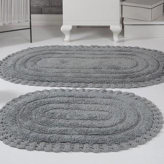 Набор ковриков для ванной Modalin YANA хлопок (серый)