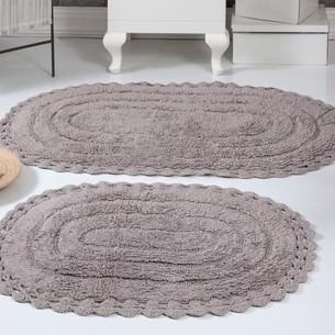 Набор ковриков для ванной Modalin YANA хлопок мокко
