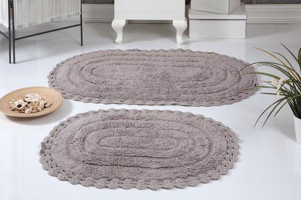 Набор ковриков для ванной Modalin YANA хлопок (мокко), фото, фотография