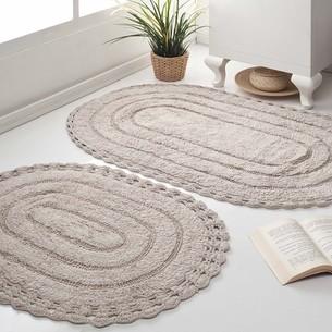 Набор ковриков для ванной Modalin YANA хлопок экрю