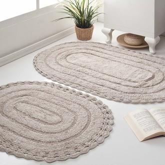 Набор ковриков для ванной Modalin YANA хлопок (экрю)