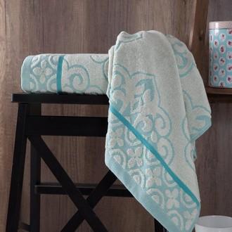 Полотенце для ванной Karna TUNUS хлопковая махра (бирюзовый)
