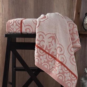 Полотенце для ванной Karna TUNUS хлопковая махра кирпичный
