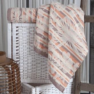 Полотенце для ванной Karna MARIPOSA хлопковая махра (абрикосовый)