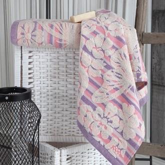 Полотенце для ванной Karna MARIPOSA хлопковая махра (розовый)
