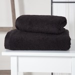 Полотенце для ванной Karna APOLLO хлопковый микрокоттон чёрный 45х60, фото, фотография