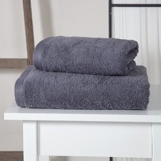 Полотенце для ванной Karna APOLLO хлопковый микрокоттон (серый)