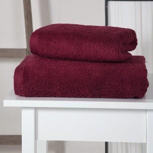Полотенце для ванной Karna APOLLO хлопковый микрокоттон бордовый 45х60