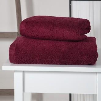 Полотенце для ванной Karna APOLLO хлопковый микрокоттон (бордовый)