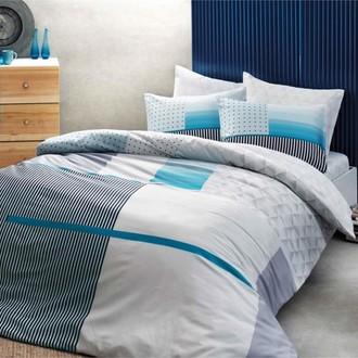 Комплект подросткового постельного белья TAC TROY хлопковый ранфорс (бирюзовый)