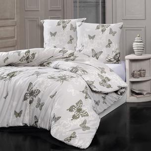 Постельное белье Karna BUTTERFLY хлопковый трикотаж 1,5 спальный