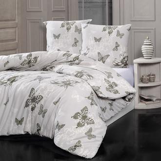 Комплект постельного белья Karna BUTTERFLY хлопковый трикотаж