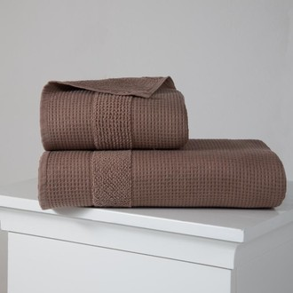 Полотенце для ванной Karna TRUVA микрокоттон хлопок (коричневый)