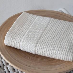 Кухонное полотенце Karna TRUVA хлопковый микрокоттон кремовый 40х60
