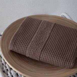 Кухонное полотенце Karna TRUVA хлопковый микрокоттон коричневый 40х60