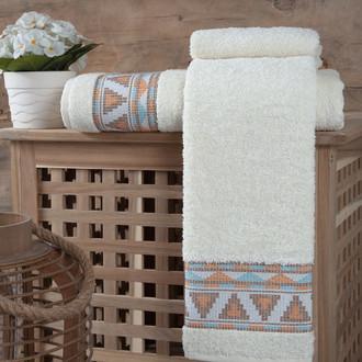 Полотенце для ванной Karna GIZA хлопковая махра кремовый