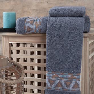 Полотенце для ванной Karna GIZA хлопковая махра (серый)
