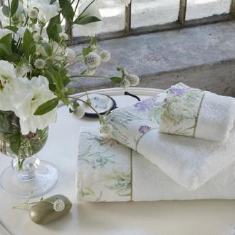 Подарочный набор полотенец для ванной 2 пр. Tivolyo Home NORA хлопковая махра кремовый