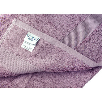 Полотенце для ванной Tivolyo Home TIVOLYO DUZ хлопковая махра (лиловый)