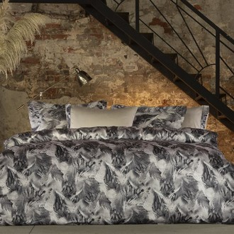 Комплект постельного белья Tivolyo Home GENESIS сатин, жатый шёлк (серый)