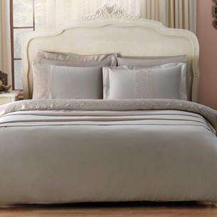 Постельное белье Tivolyo Home FORZA хлопковый сатин делюкс коричневый 1,5 спальный