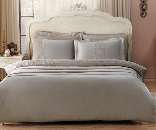 Постельное белье Tivolyo Home FORZA хлопковый сатин делюкс (коричневый) 1,5 спальный, фото, фотография