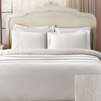 Комплект постельного белья Tivolyo Home FORZA хлопковый сатин делюкс (кремовый)