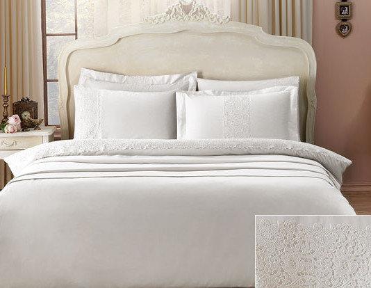 Комплект постельного белья Tivolyo Home FORZA хлопковый сатин делюкс (коричневый) евро, фото, фотография