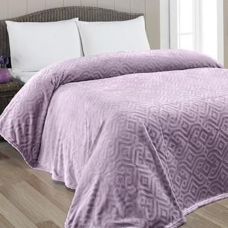 Плед-покрывало Karna GIZA велсофт (фиолетовый)