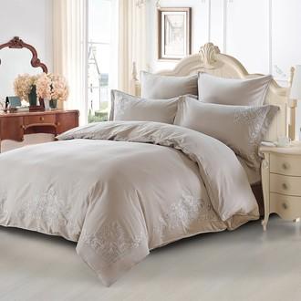 Комплект постельного белья Karna TERA хлопковый сатин делюкс (серый)