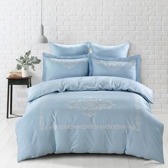 Постельное белье Karna REVENA хлопковый сатин делюкс голубой