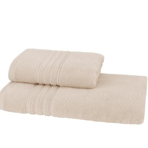 Набор полотенец для ванной 50х100, 75х150 Soft Cotton ARIA хлопковая махра бежевый