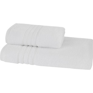 Набор полотенец для ванной 50х100, 75х150 Soft Cotton ARIA хлопковая махра белый