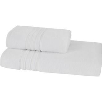 Набор полотенец для ванной 50*100, 75*150 Soft Cotton ARIA хлопковая махра (белый)