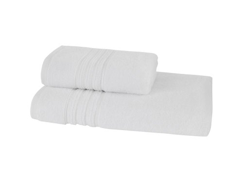 Набор полотенец для ванной 50х100, 75х150 Soft Cotton ARIA хлопковая махра белый, фото, фотография