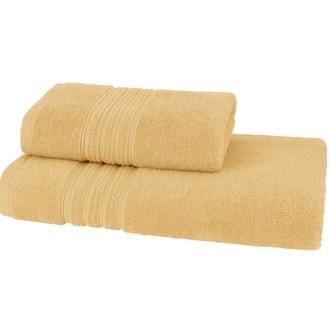 Набор полотенец для ванной 50*100, 75*150 Soft Cotton ARIA хлопковая махра жёлтый