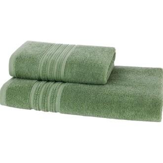 Набор полотенец для ванной 50*100, 75*150 Soft Cotton ARIA хлопковая махра (зелёный)