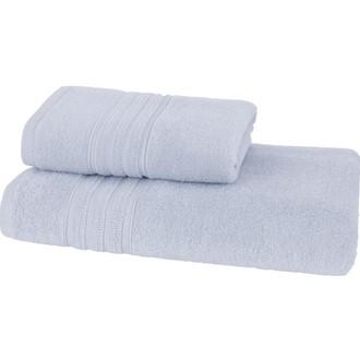 Набор полотенец для ванной 50*100, 75*150 Soft Cotton ARIA хлопковая махра светло-голубой