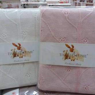 Плед-покрывало для новорожденных Tivolyo Home TREE хлопок розовый