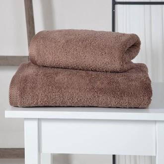 Полотенце для ванной Karna APOLLO хлопковый микрокоттон тёмно-коричневый